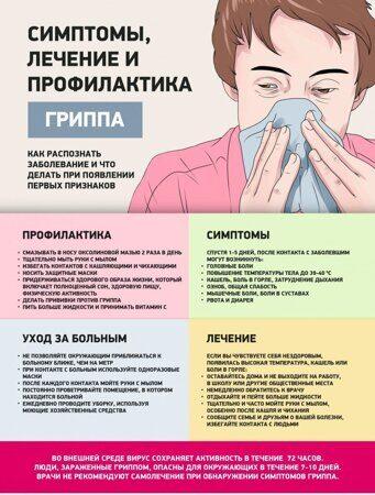 Симптомы лечение и профилактика гриппа